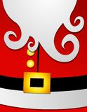 Santa Claus Suit Big Belly Profile 2. A clip art illustration featuring the profile of Santa Claus' belly and beard in his red suit Stock Photography