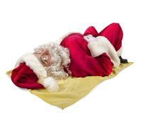 Santa claus sunbathing Royalty Free Stock Photos