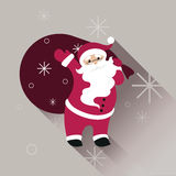 Santa Claus in sunglasses with big bag Royalty Free Stock Photography