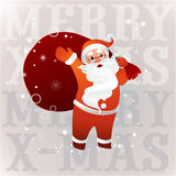 Santa Claus in sunglasses with big bag Royalty Free Stock Photos