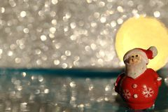 santa claus with sunset Royalty Free Stock Photo