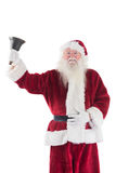 Santa Claus suona la sua campana Immagine Stock Libera da Diritti
