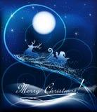 Santa Claus sur le traîneau Photographie stock libre de droits