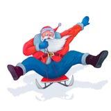 Santa Claus sur un traîneau photographie stock