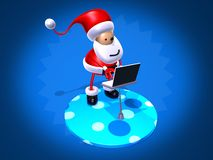 Santa Claus surfing Stock Photos
