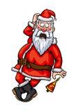 Santa Claus surpreendeu ilustração royalty free