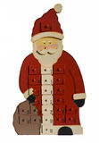 Santa Claus with surprise boxes for each day Royalty Free Stock Photo