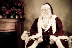 Santa Claus surprised Stock Photos