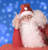 Santa Claus is surprised stock images