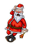 Santa Claus surprised Stock Image