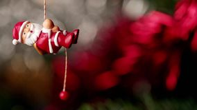 Santa claus swings stock footage