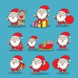 Santa claus szczęśliwy ilustracji