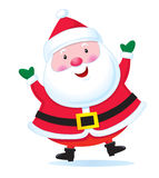 Santa claus szczęśliwy Obrazy Royalty Free