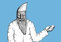 Santa claus szczotkarski węgiel drzewny rysunek rysujący ręki ilustracyjny ilustrator jak spojrzenie robi pastelowi tradycyjny obraz royalty free