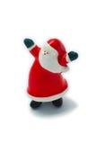 Santa claus tańczy Zdjęcia Royalty Free