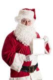 Santa Claus with tablet Royalty Free Stock Image