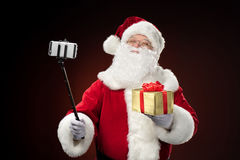 Santa Claus taking selfie Royalty Free Stock Photos