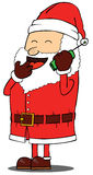 Santa Claus talking on phone Royalty Free Stock Photos