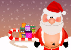 Santa Claus with tattoo for Christmas Stock Photography
