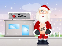Santa Claus tattooed Royalty Free Stock Photo