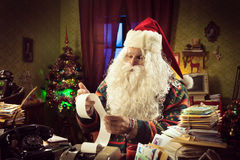 Santa Claus and tax troubles Stock Images