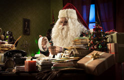 Santa Claus and tax troubles stock image