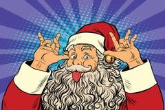 Santa Claus tease, good sense of humor. Pop art retro vector illustration Stock Images