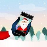 Santa Claus technology Royalty Free Stock Photography
