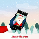 Santa Claus technology Royalty Free Stock Photo