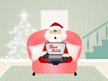 Santa Claus technology Stock Photo