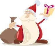 Santa Claus tecknad filmillustration Royaltyfri Fotografi