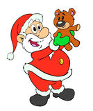 Santa Claus & Teddy Bear Royalty Free Stock Photo