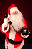 Santa Claus with Telephone Stock Photos