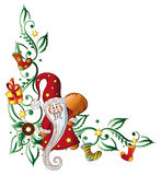 Santa claus, tendril. Christmas decoration with santa claus Stock Photos
