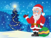 Santa Claus theme image 4 Royalty Free Stock Image