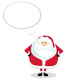Santa Claus thinking Royalty Free Stock Photography