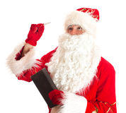 Santa Claus is thinking. Stock Photos