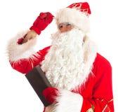 Santa Claus is thinking. Royalty Free Stock Photo
