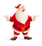 Santa claus throw up hands Royalty Free Stock Photo