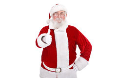 Santa Claus with thumb-up Stock Photos