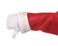 Santa Claus Thumbs Down Stock Photo