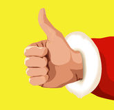 Santa Claus thumbs up Royalty Free Stock Photos