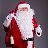 Santa Claus thumbs up Stock Photos