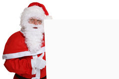 Santa Claus thumbs up on Christmas super good with copyspace Stock Images