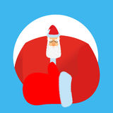 Santa Claus thumbs up. Gesture of hand is all right. Success of Royalty Free Stock Photo