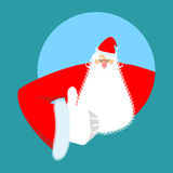 Santa Claus thumbs up. Gesture of hand is all right. Success of Stock Photo