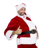 Santa Claus with thumbs up Royalty Free Stock Photography