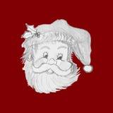 Santa Claus tirée par la main Images stock