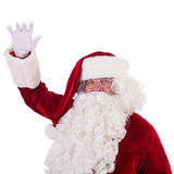 Santa Claus toont gebaar Stock Foto's