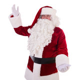 Santa Claus toont gebaar Stock Foto